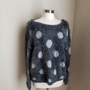 Joseph A. Fuzzy Polka Dots SweaterJoseph A. Fuzzy